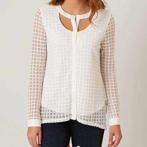 🆕 Daytrip Button Down Mesh Shirt